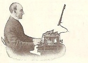 early document holder - typwriter-1900